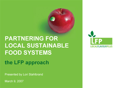 Photo: Lori Stahlbrand seminar - Partnering for Local Sustainable Food Systems